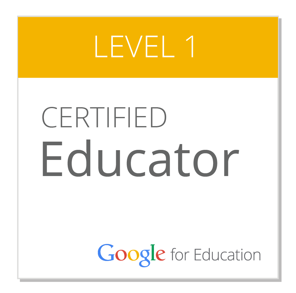 Google Level 1 Educator Badge