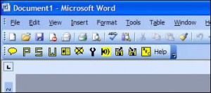 This toolbar appears in Word once the download is installed.